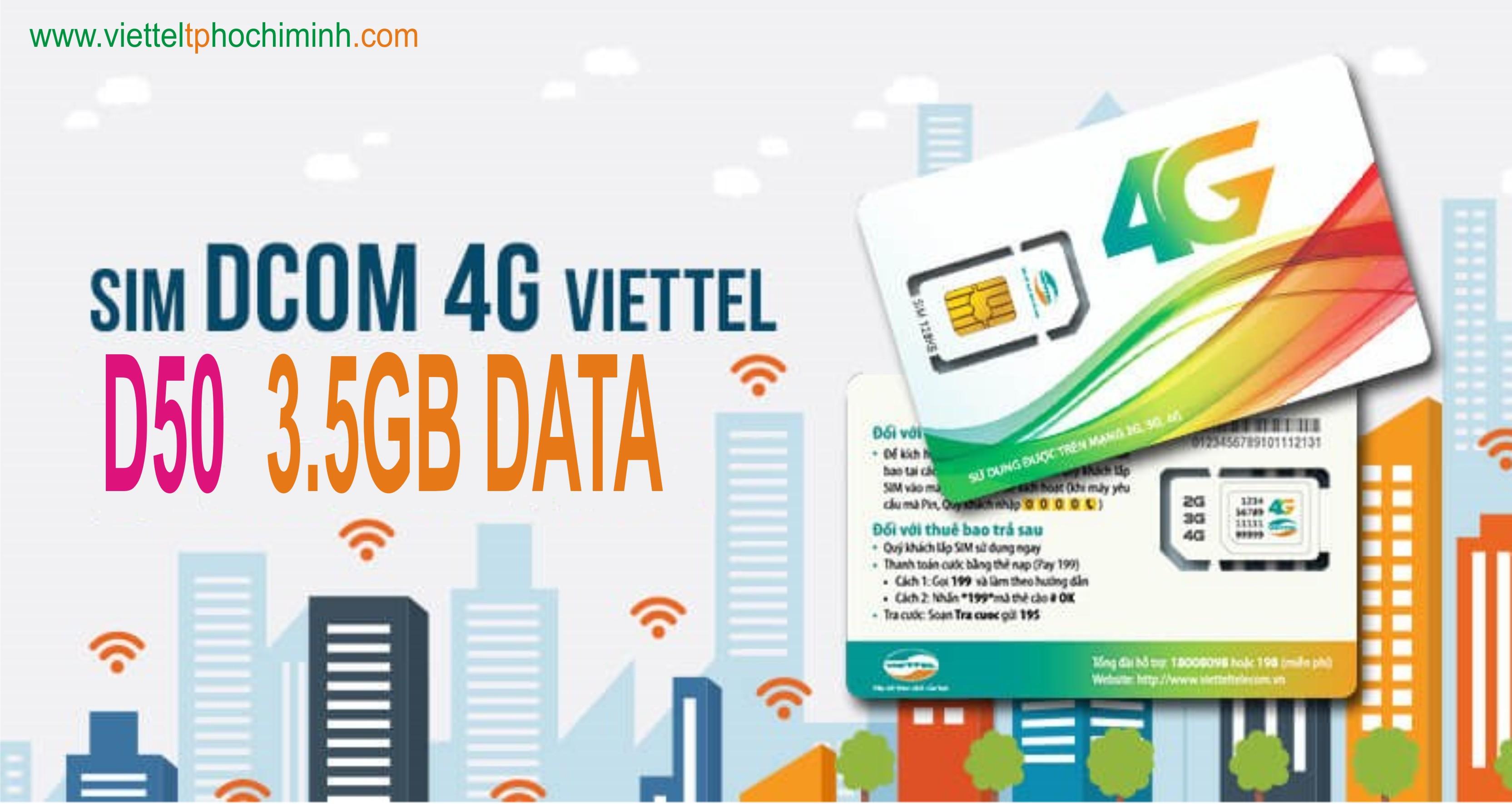 Các gói cước Dcom 3G Viettel 30 ngày ưu đãi.